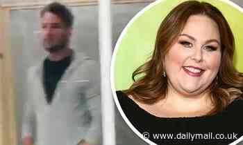 Chrissy Metz shows off the protective 'pod' separating her from This Is Us costar Justin Hartley