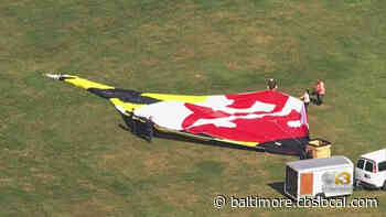 World's Largest Maryland Flag Flying High Over Frederick County - CBS Baltimore