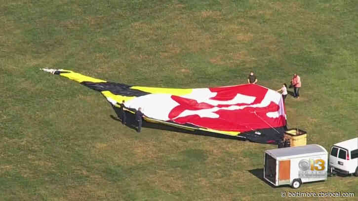 World's Largest Maryland Flag Flying High Over Frederick County