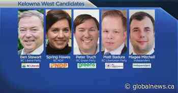 B.C. election: Five candidates vying for Kelowna West riding