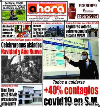 EDICIÓN IMPRESA SAN MARTÍN 20.10.20 - DIARIO AHORA