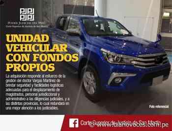Corte Superior de San Martín adquirirá una unidad vehicular con fondos propios - Diario Voces