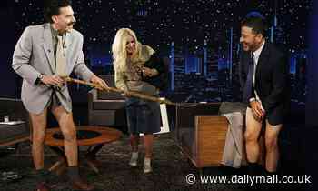 Borat and his daughterTutar force Jimmy Kimmel to strip down to his underwear for COVID-19 exam