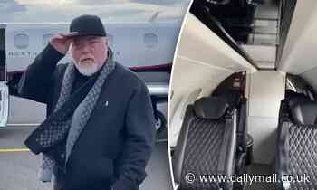 Kyle Sandilands treats fans to a look at the private jet he used to fly to Zac Efron's 33rd birthday
