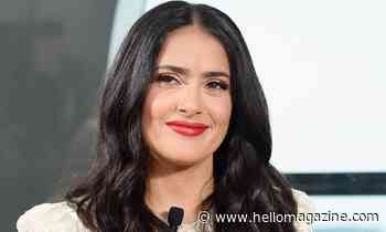 Salma Hayek's fans go wild after she shows off natural hair