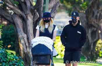 Sophie Turner pushes little daughter Willa into a stroller while out... - AlKhaleej Today