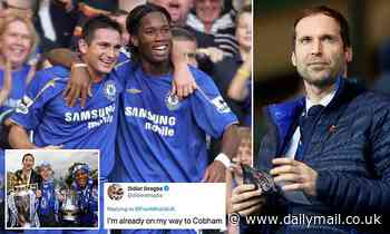 Retired Chelsea legend Didier Drogba jokes he's getting his boots back on after Petr Cech call-up
