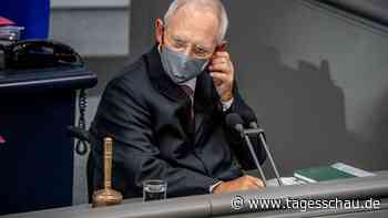 Maskenpflicht im Bundestag: AfD lässt Schäuble abmahnen