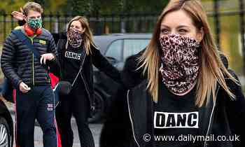 Strictly's Amy Dowden puts on an animated display as she joins JJ Chalmers for rehearsals in London