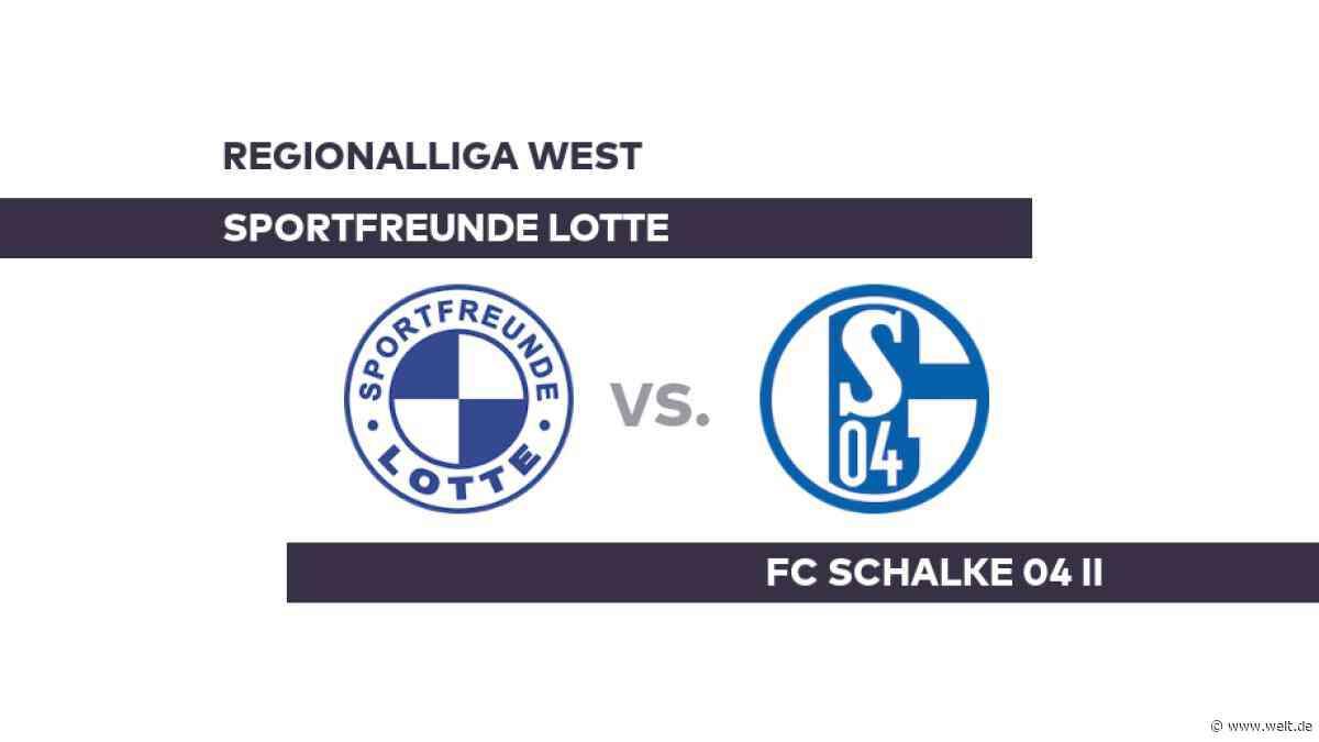 Sportfreunde Lotte - FC Schalke 04 II: Kommt Schalke II wieder in die Spur? - Regionalliga West - DIE WELT