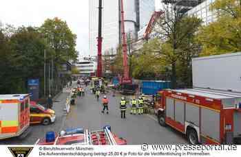 FW-M: Dramatische Rettung nach Kranabsturz (Bogenhausen)