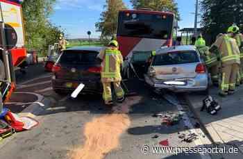 FW-Stolberg: Schwerer Unfall - vier beteiligte Fahrzeuge / zeitgleich mehrere Einsätze