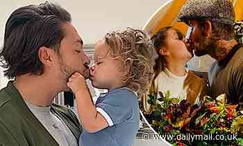 Mario Falcone defends David Beckham kissing daughter Harper, 9, on the lips
