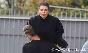 Faye Brookes shows off her impressive strength during Dancing On Ice rehearsals
