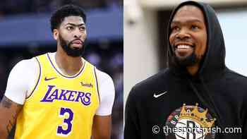 'Anthony Davis' face looks like Kevin Durant's initials': Reddit user notes how Lakers star's eyebrows... - The Sportsrush