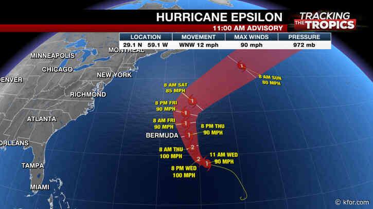 Tracking the Tropics: Hurricane Epsilon churning toward Bermuda