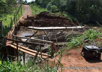 San Pedro: avanzan con la construcción del puente en barrio San Miguel - EL TERRITORIO