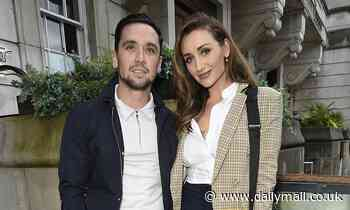 Catherine Tyldesley is chic in a checked blazer as she enjoys dinner with husband Tom Pitfield