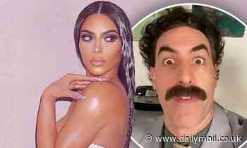 Borat joins Kim Kardashian's well-wishers by leaving the reality TV star hilarious birthday message