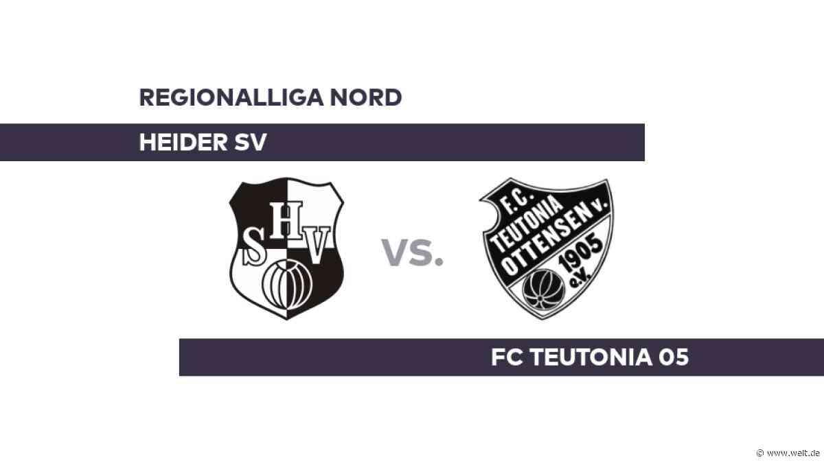 Heider SV - FC Teutonia 05: Knifflige Aufgabe für Heide - Regionalliga Nord - DIE WELT