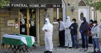 USA: 300.00 mehr Tote als üblich seit Beginn der Pandemie - Berliner Zeitung