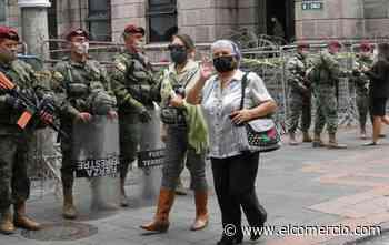 Policías y militares resguardan el Centro Histórico de Quito ante supuesto riesgo de protestas violentas