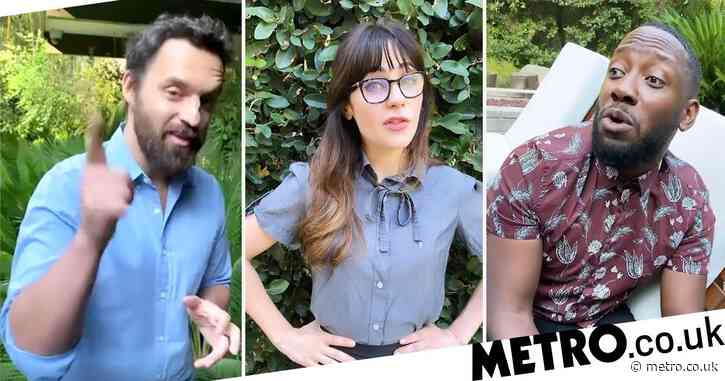 Zooey Deschanel reunites with New Girl cast in funny skit encouraging people to vote
