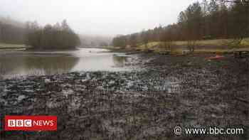 Angling club wins battle over drained Bargoed lake - BBC News