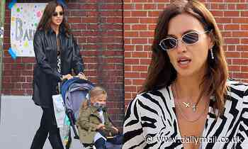 Irina Shayk looks supremely chic while picking up cupcakes with daughter Lea in New York