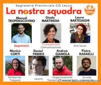 """NUOVA SEGRETERIA PER I GIOVANI DEMOCRATICI """"RIPARTIRE DAI TERRITORI"""" - Lecconews"""