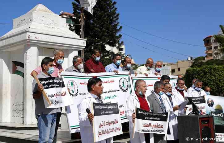 Gaza nurses protest loss of Israeli permit, layoffs