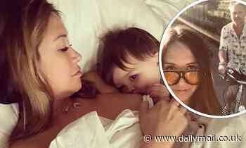 Myleene Klass gushes about spending lockdown with her family and 'rainbow' son Apollo