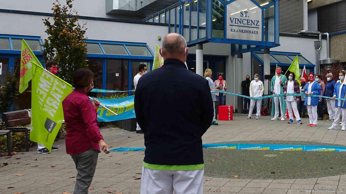 Protest gegen Klinikangebot: Warnstreik der Angestellten an den St.-Vincenz-Standorten Limburg und Diez - Rhein-Zeitung