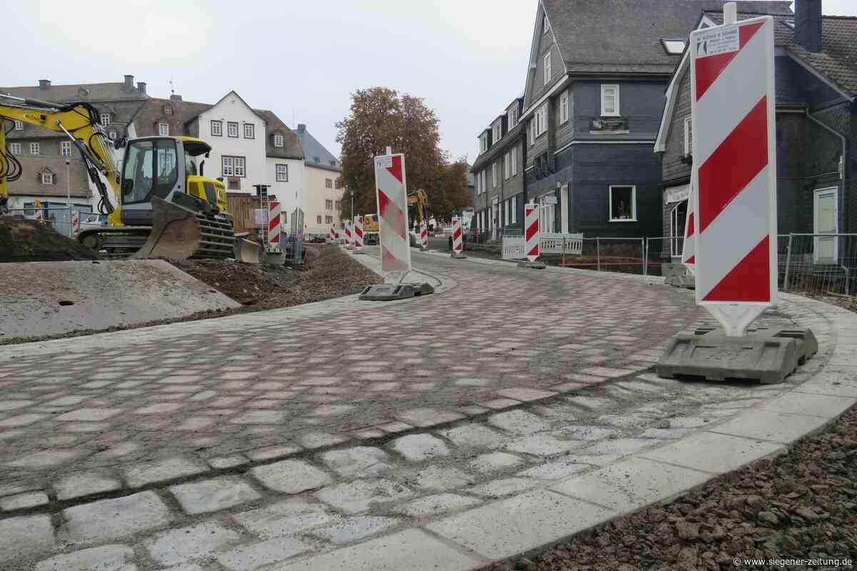 Bad Berleburg: Arbeiten am Goetheplatz liegen im Zeitplan - Bad Berleburg - Siegener Zeitung