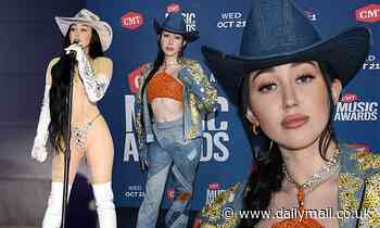 Noah Cyrus sizzles in TWO looks as she hits the stage in nearly naked sheer look at CMT Music Awards