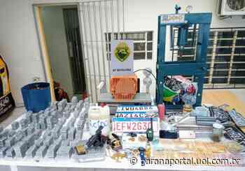 Polícia Militar descobre fábrica de placas clonadas em Campina Grande do Sul - Paraná Portal