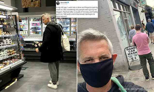 Pictured: Gary Lineker browses M&S food hall WITHOUT a Covid-19 mask - Daily Mail
