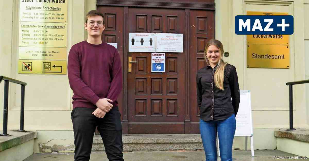Rathaus in Luckenwalde: Neue Azubis im zweiten Anlauf - Märkische Allgemeine Zeitung