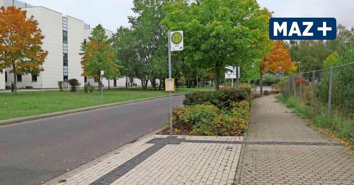 Luckenwalde: Bushaltestelle am Biopark ohne Wartehäuschen - Märkische Allgemeine Zeitung