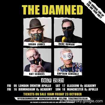The Damned's original lineup reuniting for 1st time in decades for 2021 dates