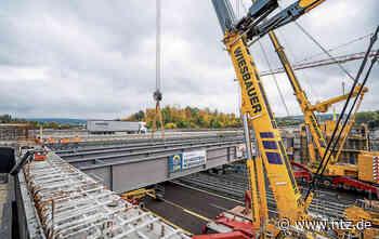 Stahlträger für neue Autobahnbrücke bei Wendlingen eingebaut- NÜRTINGER ZEITUNG - Nürtinger Zeitung