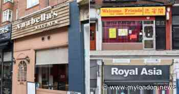 All of the restaurants in Croydon with a food hygiene rating of 0
