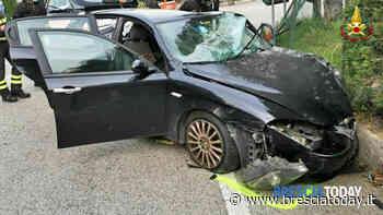 Terribile schianto: automobilista estratto dalle lamiere dai vigili del fuoco - BresciaToday
