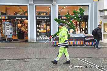 Ahlen im goldenen Oktober: Weihnachtsbeleuchtung steckt schon - Münsterland - Allgemeine Zeitung