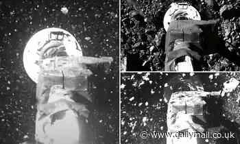 Incredible photos reveal the moment NASA's OSIRIS-Rex made historic touchdown on asteroid Bennu