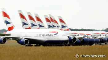 Coronavirus: British Airways owner IAG downgrades outlook as pandemic hits demand - Sky News