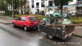 Bielefeld: Polizei stoppt überladenen VW Golf mit Metallschrott - t-online