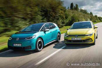 VW ID.3 gegen VW Golf: Test, Elektroauto, Benziner, Reichweite - autobild.de