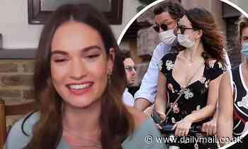 Lily James finally makes first TV appearance following Dominic West controversy