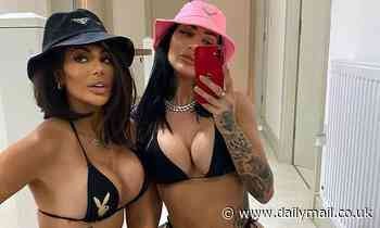 Chloe Ferry sends temperatures soaring in a TINY Playboy bikini